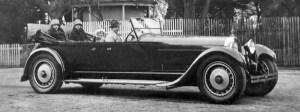 Bugatti Royale con integrandes de la familia Bugatti