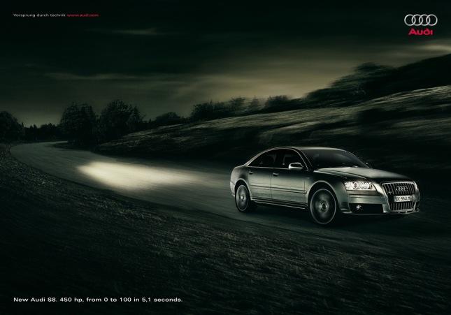 Cartel publicidad coche Audi